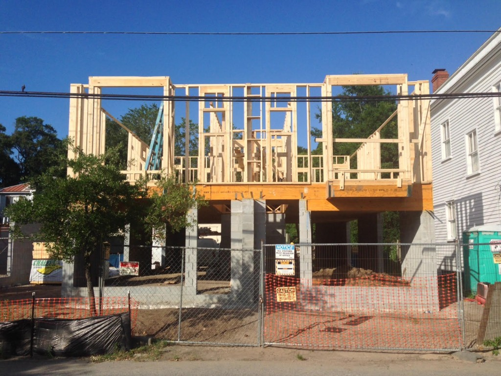 First Floors Framed